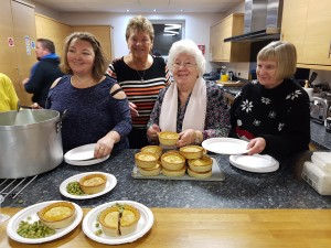 Pie and peas at one of our Christmas events