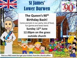 queens birthday garden party at st james lower darwen