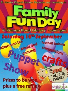 Family Fun Day at Roman Road Library Higher Croft