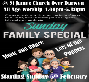family event at st james over darwen