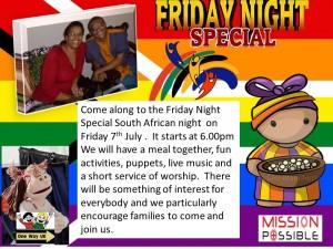 south african night in lower darwen