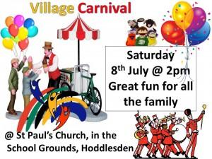 Hoddlesden village carnival at st pauls