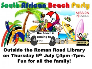 south african themed beach party in lower darwen